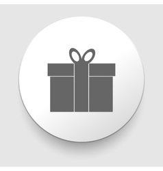 Gift box - icon vector image