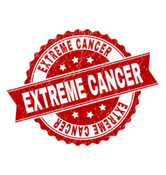 Grunge textured extreme cancer stamp seal vector