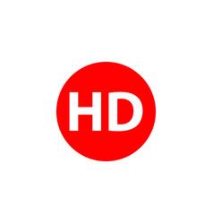 hd logo template design vector image