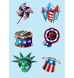 Independence day items vector