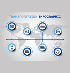 infographic design with transportation icons vector image