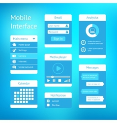 Interface template design vector