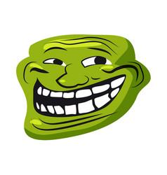 Internet troll meme character face internet vector