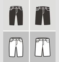 jean shorts vector image