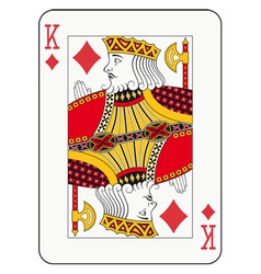 King of diamonds vector image