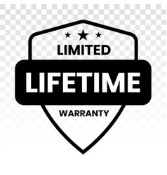 Limited lifetime warranty seal or stamp vector