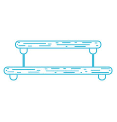 Line nice metal shelf style design vector