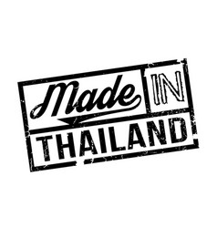 Made in thailand rubber stamp vector