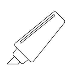 marker write school utensil thin line vector image