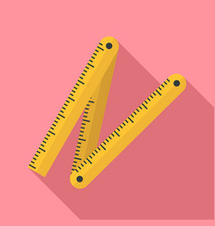 Measurement construct ruler icon flat style vector