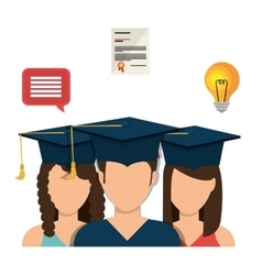 Online learning and education vector