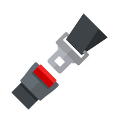 open seatbelt flat style vector image