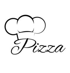 Pizza Chef Hat Lettering Text Pizza Design Element vector