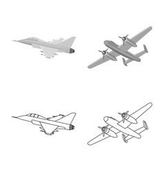 Plane and transport sign vector