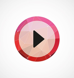 play circle pink triangle background icon vector image