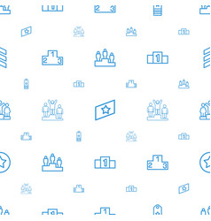rank icons pattern seamless white background vector image