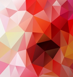 Red pink abstract polygon triangular pattern vector