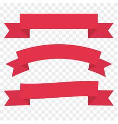 Red ribbon set vintage decor element template vector