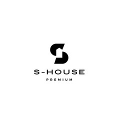 s letter house logo icon vector image