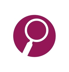 Search loupe tool purple cicle vector