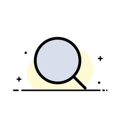 Search magnify tool max business flat line filled vector