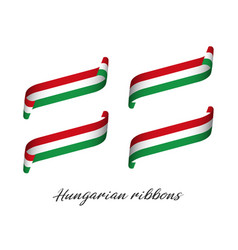 Set four modern colored hungarian ribbons vector