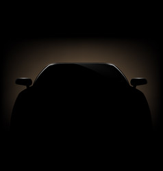 Silhouette of a automotive car vector