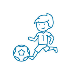 soccer championship linear icon concept soccer vector image