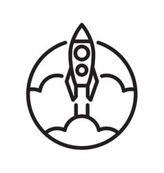Symbol outline rocket vector