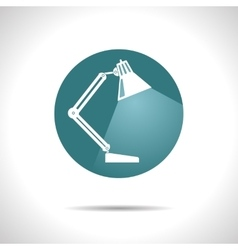 table-lamp icon Eps10 vector image