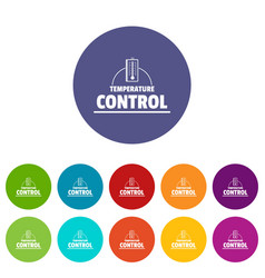 Temperature control icons set color vector