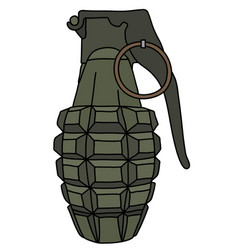 The defense hand grenade vector