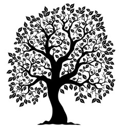 tree shaped silhouette 3 vector image