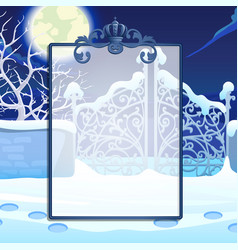 Winter sketch with space for your text on the vector