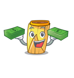 With money traditional mexican food dishes tamales vector