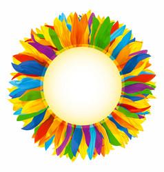 wreath made multicolored petals sunflower vector image