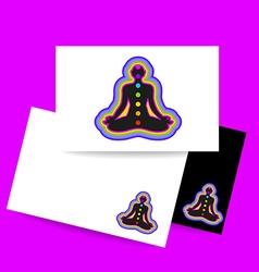Yoga chakra template vector