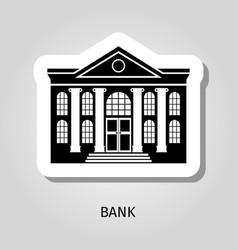 bank building web sticker icon vector image vector image