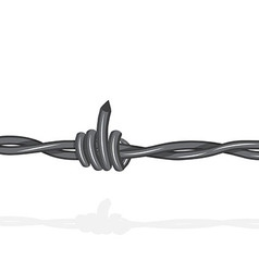 Barbed lookslike off with the middle finger vector image vector image
