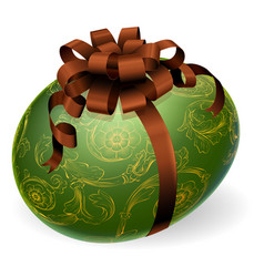 chic easter egg with golden patterns vector image vector image