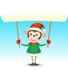 Monkey 2016 christmas new year banner vector image vector image