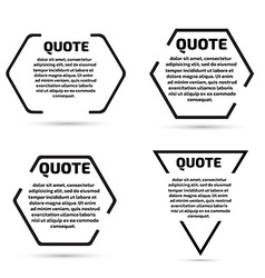 Quote text bubble set Template set vector image
