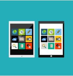 Tablet apps responsive flat ui design vector image vector image
