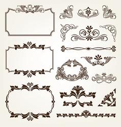 Vintage retro calligraphic borders vector