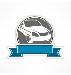 Auto sign on white vector image vector image