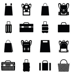 bag icon set vector image vector image