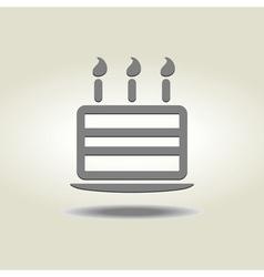 birthday cake icon vector image vector image