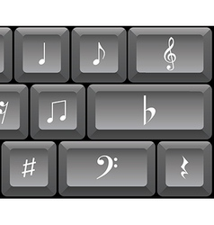 Musical notes keyboard vector image vector image
