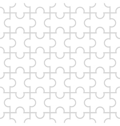 Seamless pattern in the form of puzzle vector image vector image