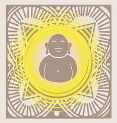 spring budda poster vector image vector image
